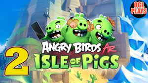 ANGRY BIRDS AR: ISLE OF PIGS ROCKY RUINS Gameplay #2 - YouTube