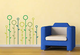 Small Picture Grassland Abstract Wall Decal Modern Floral Wall Decor