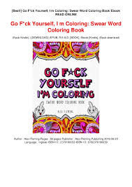 Best Go Fck Yourself I M Coloring Swear Word Coloring Book Eboo