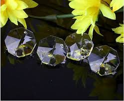 crystal glass 8 faceted octagon shape beads for chandeliers