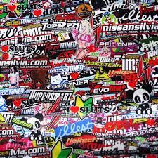 illest Stickerbomb Graffiti <b>Hellaflush</b> Cartoon Vinyl Wrap Sticker ...