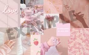 Pink Collage Desktop Wallpaper Macbook ...