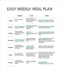 Easy Diet Chart 9 Diet Chart Free Sample Example Format Download