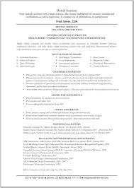 Dental Hygienist Resume Objective Resume Template Dental Assistant