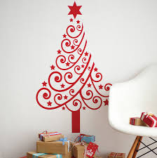 Wall Christmas Trees Christmas Tree Wall Sticker By Spin Collective