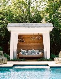 small pool cabana. Outdoor Lounge - Poolside Cabana [simple] Small Pool Pinterest