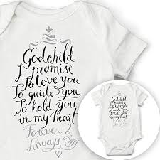 Amazon Godchild Quote Baby Onesie Godchild Baby Bodysuit For Best Godparents Love Quote In English