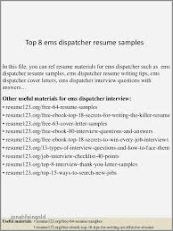 Resume Cover Letter Examples For Dispatcher Best Of Examples