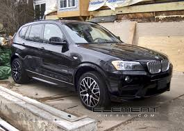 Sport Series 2012 bmw x3 : 19 inch Staggered Tenzo Concept 10 Black/Machined on 2012 BMW X3 w ...