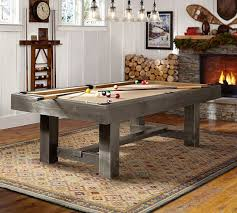 pottery barn pool table with table tennis top