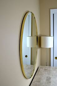 midcentury italian  round brass framed mirror at stdibs