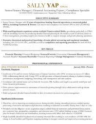 Admin Manager Cv Sample Finance Manager Resume Sample Singapore Cv Template