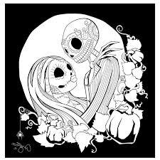 Jack Skellington Coloring Page Free Printable Nightmare Before