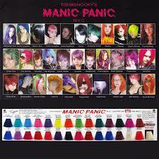 Manic Panic Hair Colour Chart