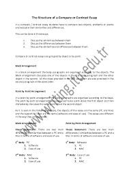 Pdf The Structure Of A Compare Or Contrast Essay Luisa