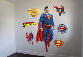 superman wall decal graphic