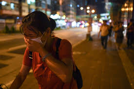 Running Red Light Hong Kong Tear Gas Sparks Public Health Anxiety In Hong Kong Time
