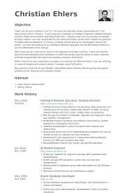 Intelligent Network Specialist, Testbed Architect Resume samples