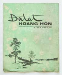 Image result for Hình bìa bản nhạc Đà Lạt Hòang Hôn