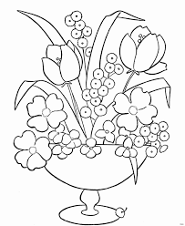 Printable Flower Coloring Pages Awesome Printable Flower Coloring