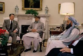 reagan oval office. President Ronald Reagan Meets With Afghan Resistance Leaders In The Oval Office Of White House