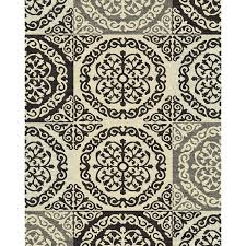 style selections gabany black indoor area rug common 8 x 10 actual