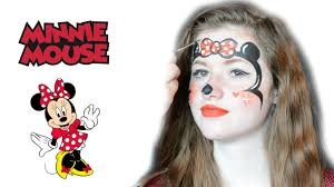 minnie mouse face makeup minnie mouse face painting tutorial splash animaties you