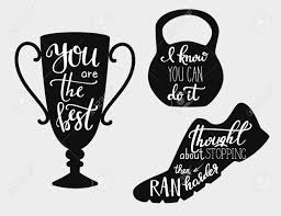 Lettering Quotes Motivation For Sport Calligraphy Style Quote