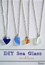 diy sea glass necklace darice 1
