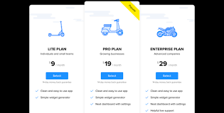Pricing Chart Examples Responsive Pricing Table Widget For Any Website Fast And