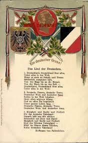 Lied Ein deutscher Gruß, Das Lied der Deutschen, Hoffmann Fallersleben