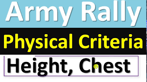 Height And Weight Chart For Indian Army Army Rally Physical Criteria Minimum Height Weight