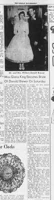 Brewer King Nuptials 1960 - Newspapers.com