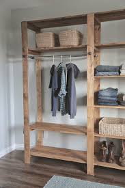 build an style wood slat closet system with galvanized pipes free and easy diy project and furniture plans