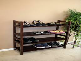 Image of: Small Wooden Shoe Rack