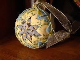 Quilted Christmas Ornament (No Sew) | Folded Fabric Balls - YouTube &  Adamdwight.com