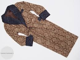Mens Quilted Long Dressing Gown Luxury Cotton and Silk &  Adamdwight.com