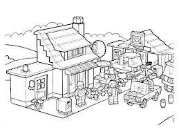 Lego City Kleurplaten Kleurplateneu