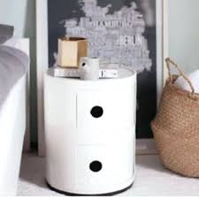 round bedside table cabinet drawer stand bathroom style for ideas uk