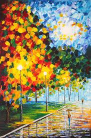saatchi art artist georgeta blanaru painting moonlight raindrops original acrylic palette knife painting