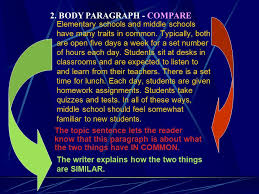 compare and contrast sample essay elementary school and middle  what is it like to transition from elementary to middle school that is a question
