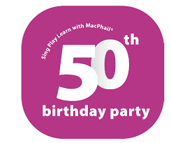 program for 50th birthday celebration sing play learn with macphail 50th birthday party mpls downtown