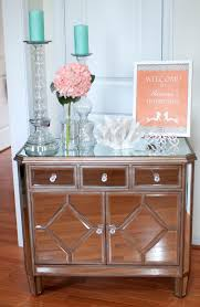mirror end table. black mirrored end table and pottery barn mirror