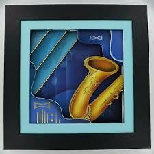 saxophone wall art frame abstract