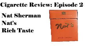 Nat Sherman Lights Nat Sherman Nats Rich Taste Cigarette Review Episode 2