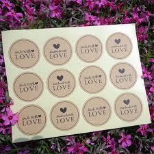 <b>120Pcs</b> 2019 <b>New</b> Arrival Made With Love Heart <b>Handmade</b> Cake ...