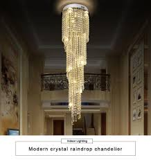 Großhandel Neue Ankunft Luxus Runde Lange Kristallleuchter Led Licht Lustre Hängen Lampe Moderne Treppenhaus Kronleuchter Hotel Halle Licht Fixuture