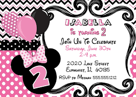 minni marvelous minnie mouse birthday party invitations