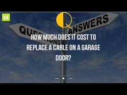 How Much Does It Cost To Replace A Cable On A Garage Door? - YouTube