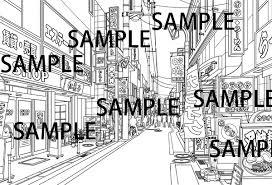 漫画背景素材商店街 漫画背景配給社 Booth